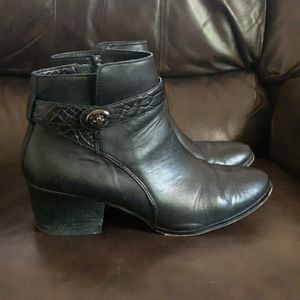 Coach Patricia Leather Ankle Boots